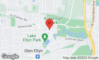 Map of 707 Elm Street GLEN ELLYN, IL 60137