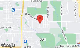 Map of 707 Glenridge Drive GLENVIEW, IL 60025