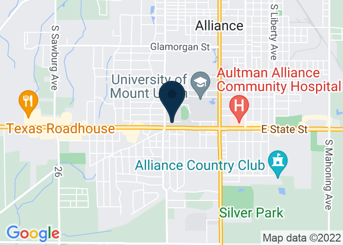 Map of 708 Hartshorn St., Alliance, OH 44601, United States