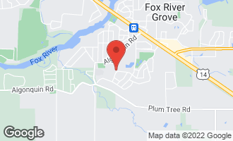 Map of 709 Hunters Way FOX RIVER GROVE, IL 60021
