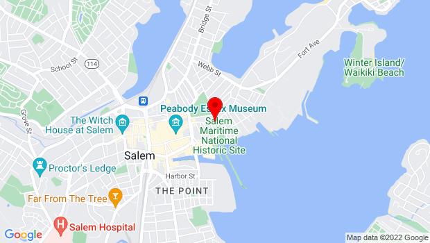 Google Map of 71 Essex Street, Salem, MA 01970