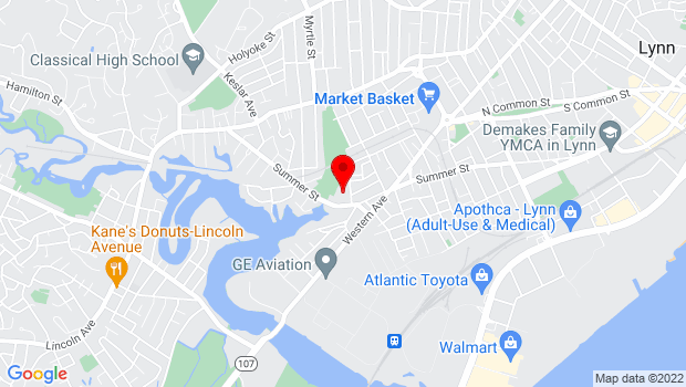 Google Map of 71 Linden Street, Lynn, MA 01905