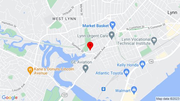 Google Map of 71 Linden Street, Unit 105C, Lynn, MA 01905