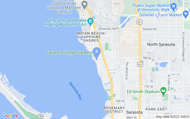710 Indian Beach Cir Sarasota Florida 34234 locatior map