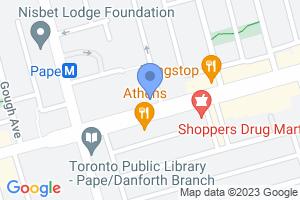 710 Danforth Avenue (1 block east of Pape on the northwest corner of Danforth)