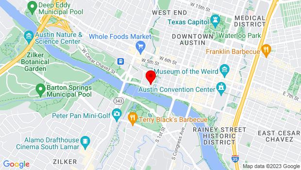 Google Map of 710 W Cesar Chavez St, Austin, TX, Austin, TX 78701
