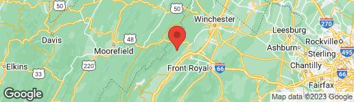 Map of 710 CEDAR CREEK ROAD STAR TANNERY, VA 22654