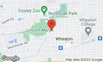 Map of 710 North Carlton Avenue WHEATON, IL 60187