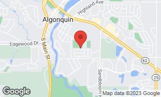 Map of 710 North Vista Drive ALGONQUIN, IL 60102