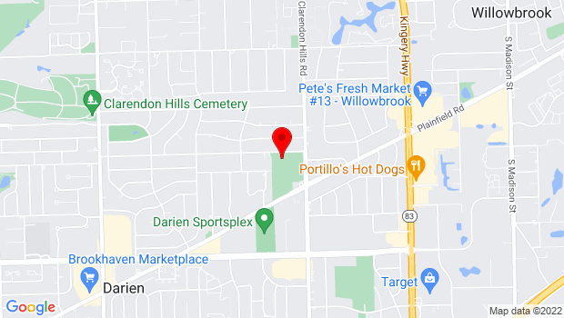 Google Map of 7100 Clarendon Hills Rd., Darien, IL 60561