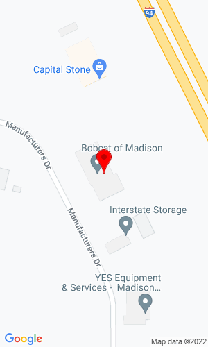 Google Map of Bobcat of Madison 7101 Manufacturers Drive, Madison, WI, 53704