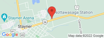 Google Map of 7106+Hwy+26%2CStayner%2COntario+L0M+1S0