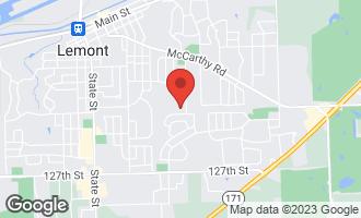 Map of 711 Woodglen Lane LEMONT, IL 60439