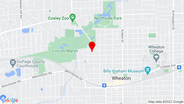 Google Map of 715 North Carlton, Wheaton, IL 60187