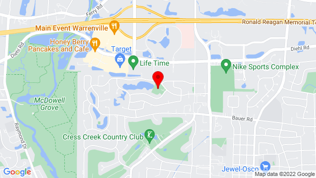 Google Map of 715 Sigmund Rd., Naperville, IL 60563