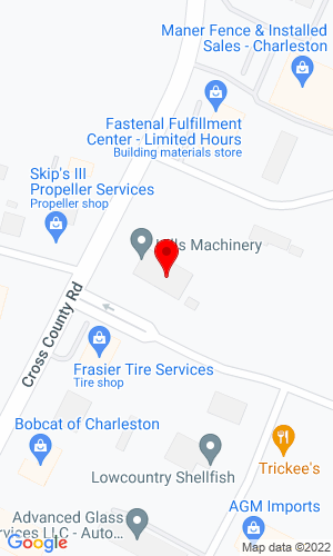 Google Map of Hills Machinery 7168B Cross Country Road, North Charleston, SC, 29418