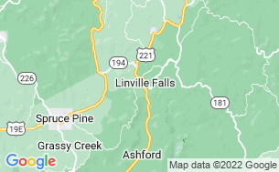 Map of Linville Falls Campground, RV Park & Cabins