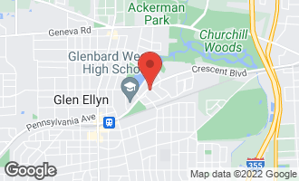 Map of 719 Crescent Boulevard GLEN ELLYN, IL 60137