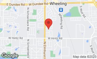 Map of 719 South Merle Lane WHEELING, IL 60090