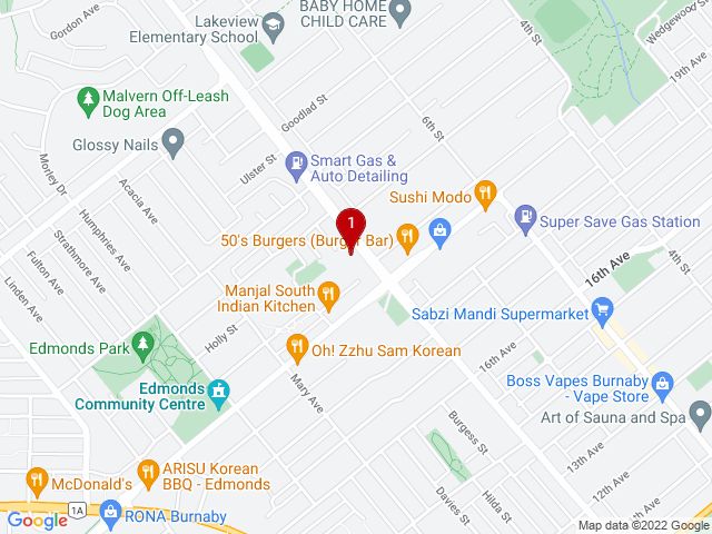 Google Map of Burnaby,BC