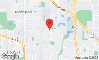 Map of 720 North Clark Drive PALATINE, IL 60074