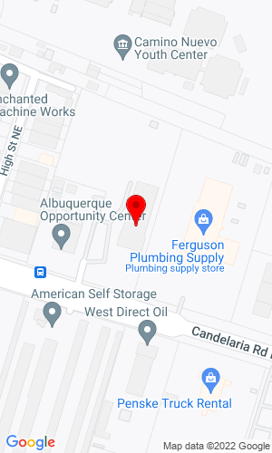 Google Map of Golden Equipment Company 721 Candelaria Road NE, Albuquerque, NM, 87107