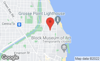 Map of 722 Lincoln Street EVANSTON, IL 60201