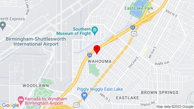 Google Map of 7220 4th Avenue North, Birmingham, AL 35206