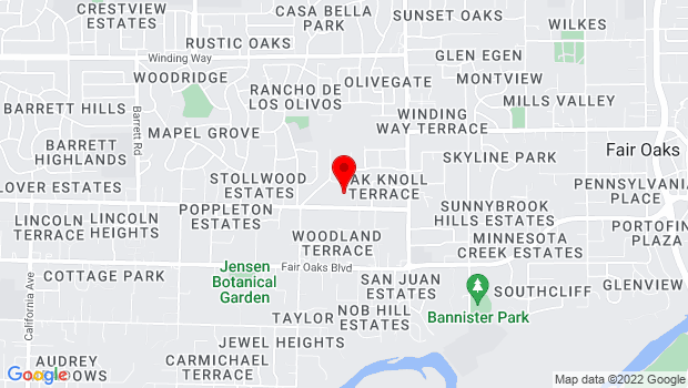 Google Map of 7225 Lincoln Ave. , Carmichael, CA 95608