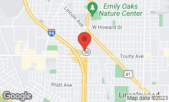 Map of 7250 North Cicero Avenue LINCOLNWOOD, IL 60712