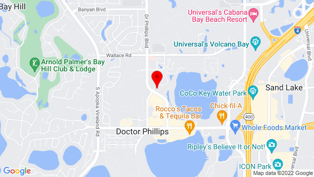 Google Map of 7255 Della Drive, Orlando, FL 32819