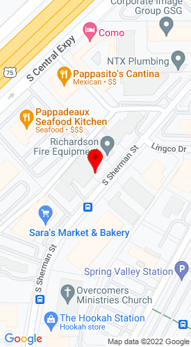 Google Map of CLS Sewer Equipment Co. 726 S. Sherman Street +Richardson+TX+75081