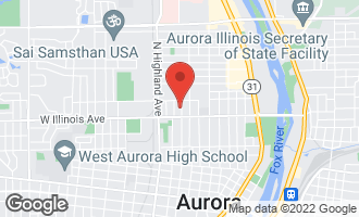 Map of 726 North View Street AURORA, IL 60506