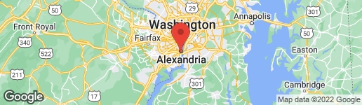 Map of 728 Washington Street South Alexandria, VA 22314