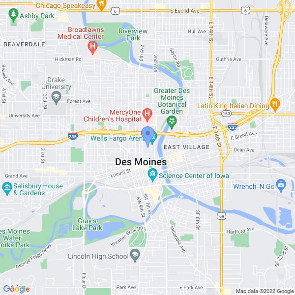 Wizard World: Des Moines Map