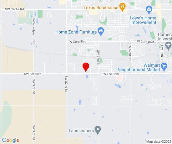 Google Map of 7301 SW Lee Blvd OK 73501