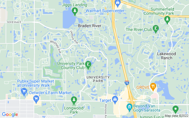 7303 Westminster Ct University Park Florida 34201 locatior map