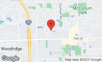 Map of 7305 Ticonderoga Road DOWNERS GROVE, IL 60516