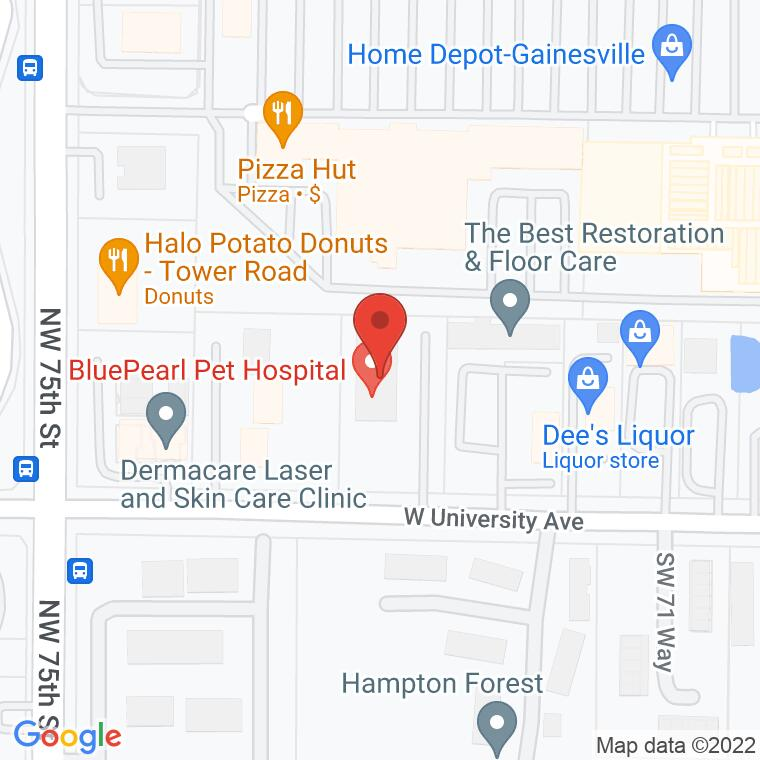 Google Map of 7314 W University Ave., Gainesville, FL 32607, 7314 W University Ave., Gainesville, FL 32607