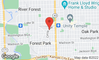 Map of 7316 Franklin Street #1 FOREST PARK, IL 60130