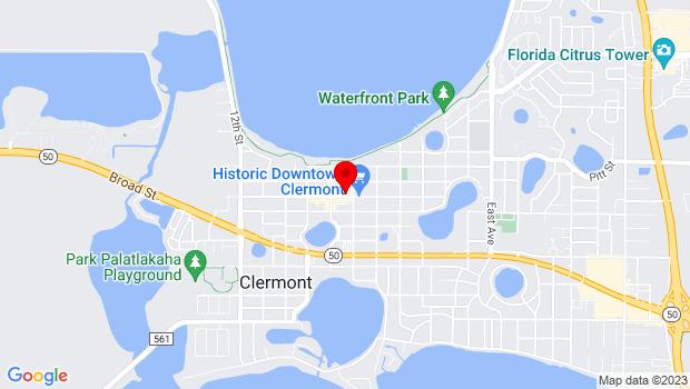 Google Map of 732 B West Montrose Street, Clermont, FL 34711