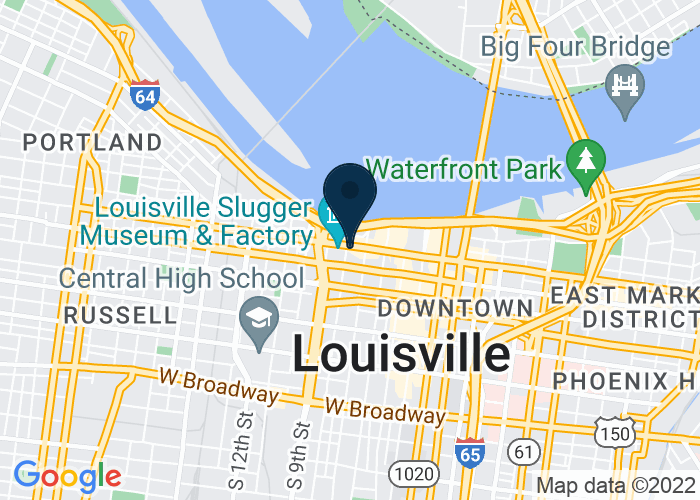 Map of 732 W. Main St., Louisville, KY 40202, United States