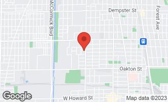 Map of 732 Dodge Avenue EVANSTON, IL 60202