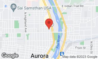 Map of 734 Wilder Street AURORA, IL 60506