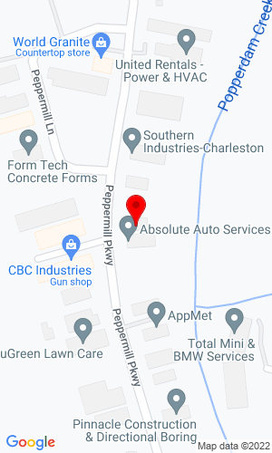 Google Map of SE Equipment dba Bobcat of Charleston 7340 Peppermill PArkway, North Charleston, SC, 29418