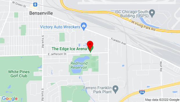 Google Map of 735 East Jefferson St, Bensenville, IL 60106