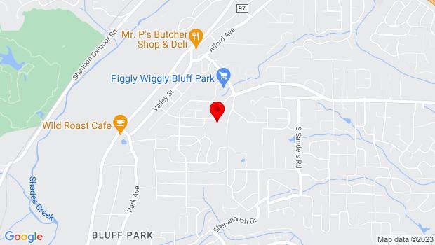 Google Map of 736B Shades Mountain Plaza, Birmingham, AL 35226