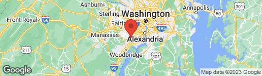 Map of 7398 LOUGHBORO LANE SPRINGFIELD, VA 22150