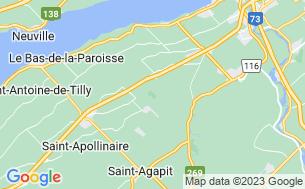 Map of Camping Domaine De La Chute - Parkbridge