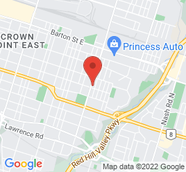 Google Map of 74+Parkdale+Avenue+North%2CHamilton%2COntario+L8H+5W9